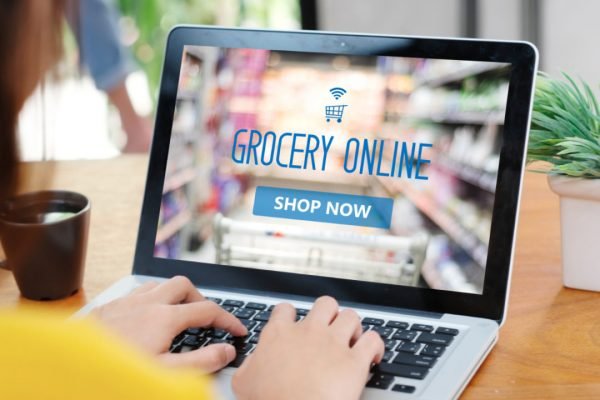 picture of a laptop open to grocery online