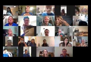 Recent Summer Camp Closing Ceremony via Zoom Conferencing
