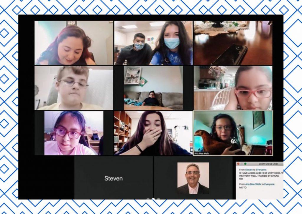 Virtual camp participants