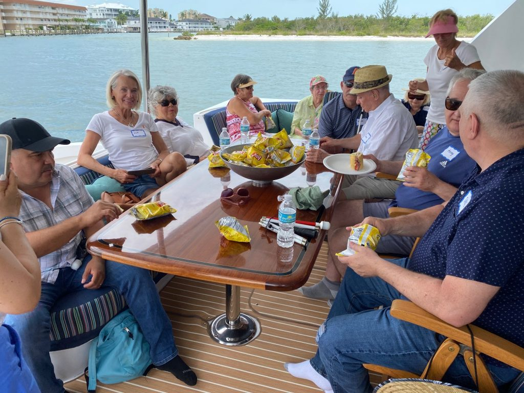 picture of clients aboard the Lady Jane