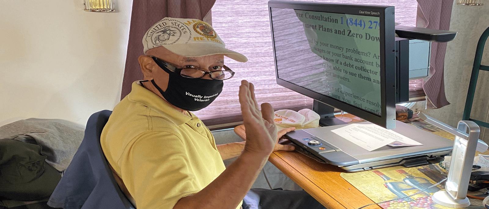 Client using CCTV